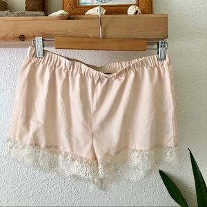 Topshop pink lace bottom shorts